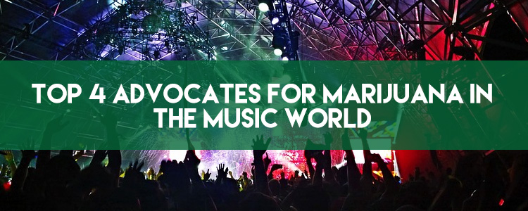 Top 4 advocates for marijuana in the music world