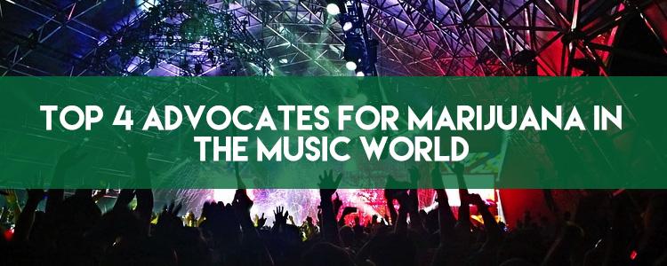 Top 4 advocates for marijuana in the music world